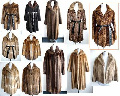 Lot 12 x fur coats jackets Muskrat Mink Nutria Persian lamb lambskin broadtail