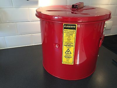 Justrite 27605 5 GAL (18.9 Liters) steel parts cleaner can for flammable liquids