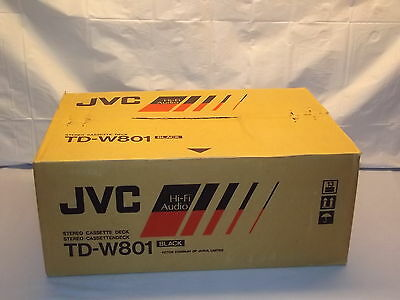 JVC TD-W801 Stereo Double Cassette Tape Deck Player / Recorder NEW Made In JAPAN