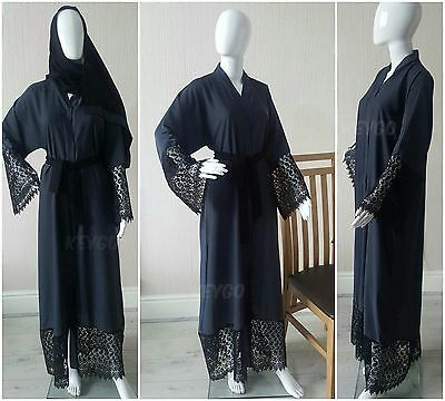 WEDDING BELTED Dubai Style JACKET Abaya Maxi Dress Farasha Nida RAMADAN EID SALE