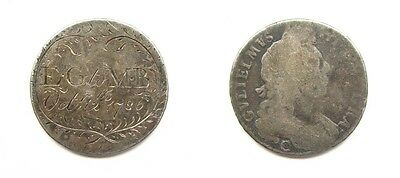 William Iii Silver Chester Halfcrown - Engraved As Love Token Dated 1786