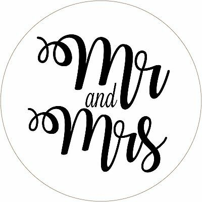Mr & Mrs stickers/labels for party/wedding bags, cupcake boxes, confetti packs
