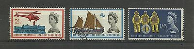 GB 1963  International Lifeboat Conference Phosphor Issue   fine used set