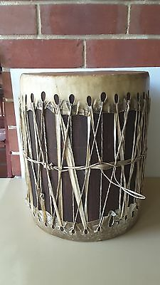 Hand Drum African Style Bongo 28.5 cm DIAMETER WOODEN MID SECTION
