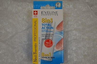 Eveline Nail Therapy 8-in-1 Total Action Nail Conditioner 12ml, new in box