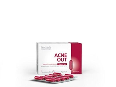 BIOTRADE ACNE OUT Food Supplement Greasy/Acne-Prone Skin Brewer's Yeast Vitamins