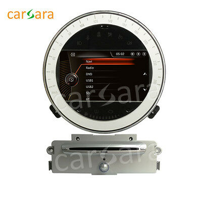2 Din GPS Head Unit Navigation with silver CD player for Mini Cooper 2007-2011