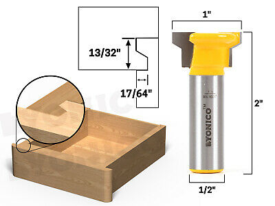"Reversible Drawer Front Router Bit - 1/2"" Shank - Yonico 15033"