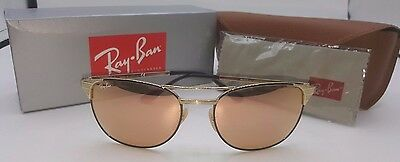 Ray-Ban Sunglasses RB3429M 9000Z2 SIGNET Gold Black/Copper Flash 100% Authentic