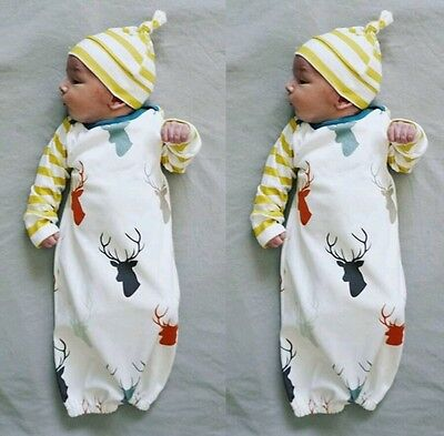 mutli coloured stag sleep sack and hat job lot x18