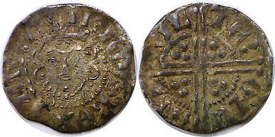 England 1216-1272 Henry III Silver Penny Long Cross Canterbury Mint