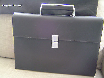 Porsche Design French Classic BriefBag FS Aktentasche Black  Leder