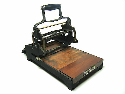 Antique Base-Lock Printing Press Rubber Ink Hand Stamp Type Printer Vtg C. 1930