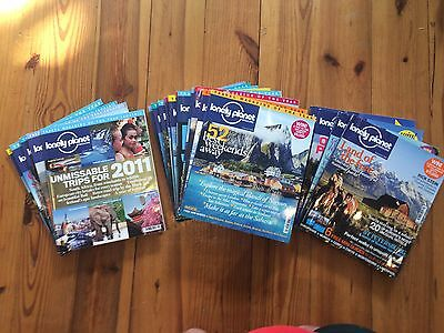 20 LONELY PLANET Magazines From 2009-2011 (Issues 9-29 except 13)