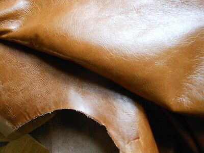Leather Skin Hide Crest Old English Buckskin 63 Sq Ft  Home Contract Crib 5