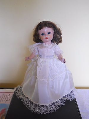"Vintage 1950's White Wedding Gown Dress for 8"" Vogue or Madame Alexander Doll"