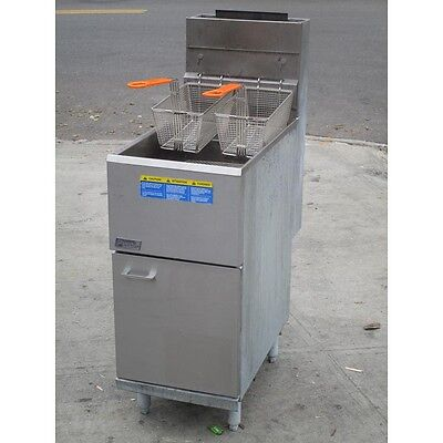 Pitco 35C Natural Gas Fryer Stainless Steel Floor Fryer, Good Condition