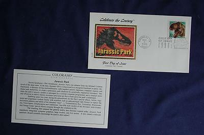 Celebrate the Century 1990s Jurassic Park 33c Stamp FDC Colorano S#3191k CO315