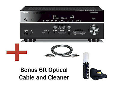 Yamaha RX-V683 7.2 Ch Network Receiver with Bluetooth, 4K, MusicCast, & Bundle