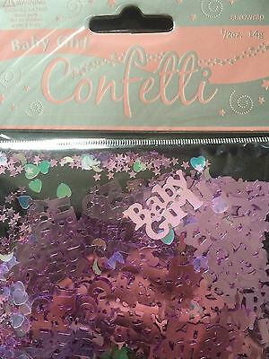 Baby Shower - Pink Girl Party Decorations - Foil Table Confetti - 14.g Bag