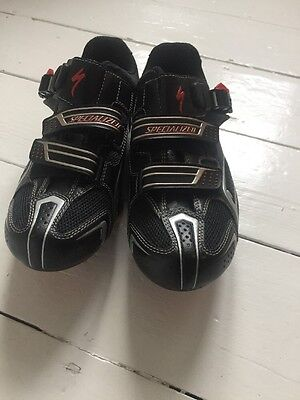 Black Specialized Cycling Shoes, Size 39.