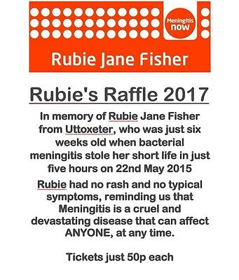 Charity Raffle Tickets - All Proceeds Go To Meningitis Now