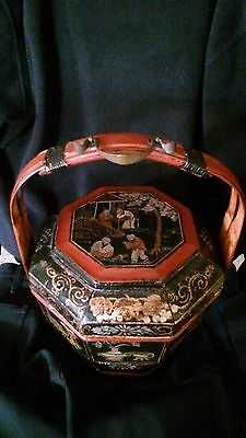 antique Chinese Wedding basket c.1900