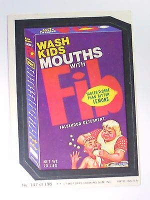 VINTAGE! 1980 Topps Wacky Packages Trading Card #147-Fib-Fab