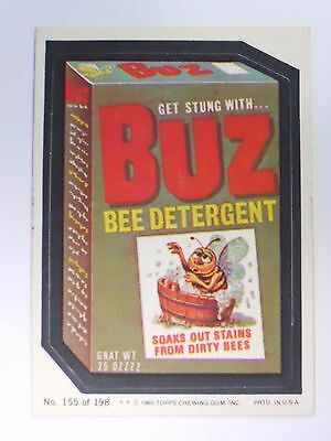 VINTAGE! 1980 Topps Wacky Packages Trading Card #155-Buz-Biz