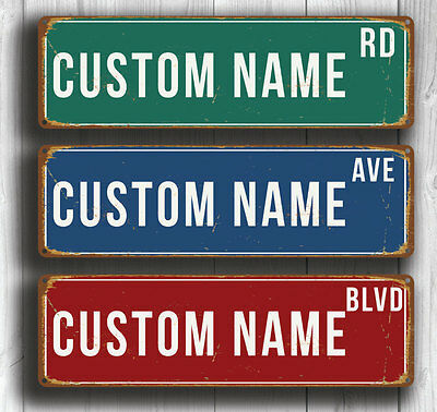 Personalized Street Sign - Vintage Style