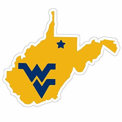 West Virginia Mountaineers Home State Magnet (WV Shape) NCAA Licensed