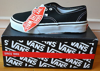 Authentic Vans Classics Kids Youth Shoes Black U.S Size 12 *Brand New In Box*