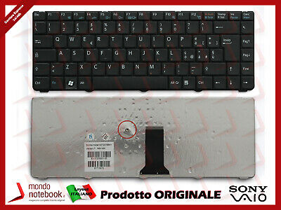 Tastiera Keyboard Italiana Originale Sony Vaio VGN-NS21M Nera Layout ITA