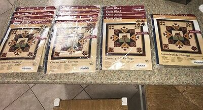 JoAnn Fabrics Quilt Block of the Month Countryside Cottage Setting Kit & 12 Mos