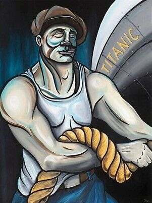 """""""The Docker"""" Print On Canvas - Limited Edition - Titanic Series - Signed"""