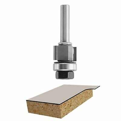 XMHF 3//8-inch Cutting Dia 1//4-inch Shank Diameter Double Flute Straight Router Bits 2PCS