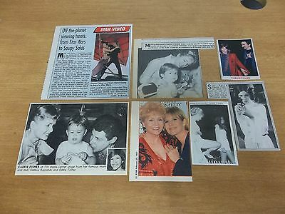 Carrie Fisher  lot of  clippings #HQ
