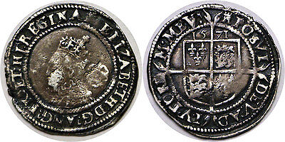 1571 Great Britain Elizabeth I Silver 6 Pence
