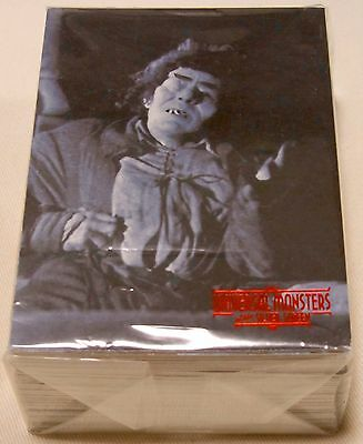 Universal Monsters Of The Silver Screen Base Card Set 90 + 10 Sticker Lobby Set