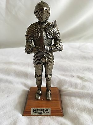 Pewter King Henry VIII Foot Combat Armour C.1520 Model/Ornament