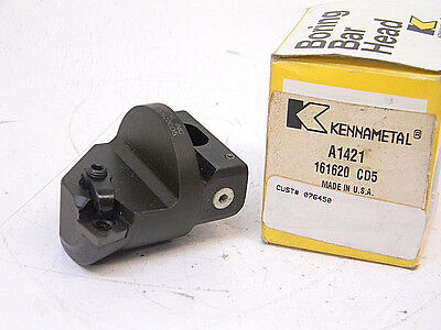 New Kennametal Carbide Indexable Boring Head A1421 (Spg 422) 15° Lead