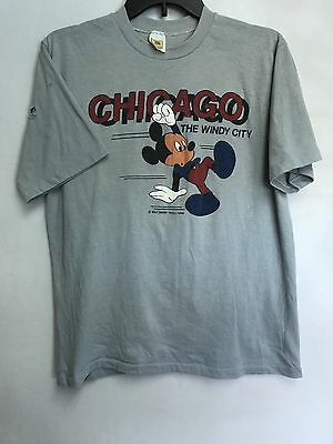Vtg Walt Disney Productions Size L Chicago The Windy City Mickey Mouse T Shirt