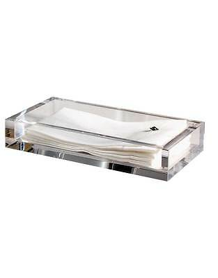 """Mike & Ally Solid Ice Clear Lucite Flat Towel / Vanity Tray 5.5 x 9.75"""""""
