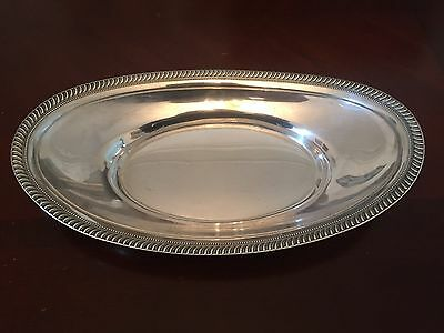 Antique Sterling Silver Bread Serving Bowl By Fisher Silversmiths
