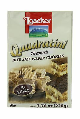 Loacker Quadratini Tiramisu Wafer Cookies 7.76-Ounce Packages (Pack of 8) - NEW