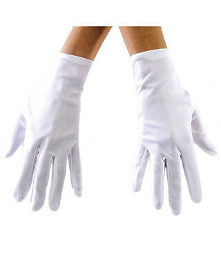 White Adult Costume Gloves One Size