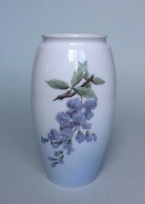 Beautiful Bing & Grondahl B&G Vase with Wisteria Floral Pattern, 1962 - 1972