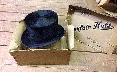 Vintage Silk Top Hat by Mayfair Alberts Hatters with an original box