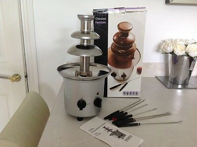 Tesco Stainless Steel Chocolate Fountain Fondue 3 Tiers Ideal For Parties