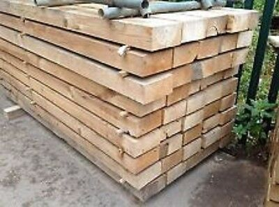 New 8ft 2.4m Softwood Sleeper untreated Timber, decking, fence, raised bed